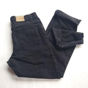 Vintage LEE • high rise black denim mom jeans